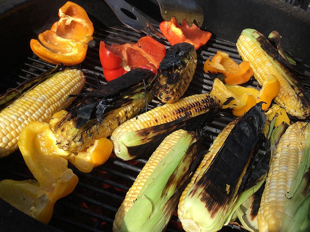 Charcoal Grilled Corn Charbon De Bois Franc Basques